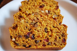 Pumpkin, Fruit, and Nut Bread