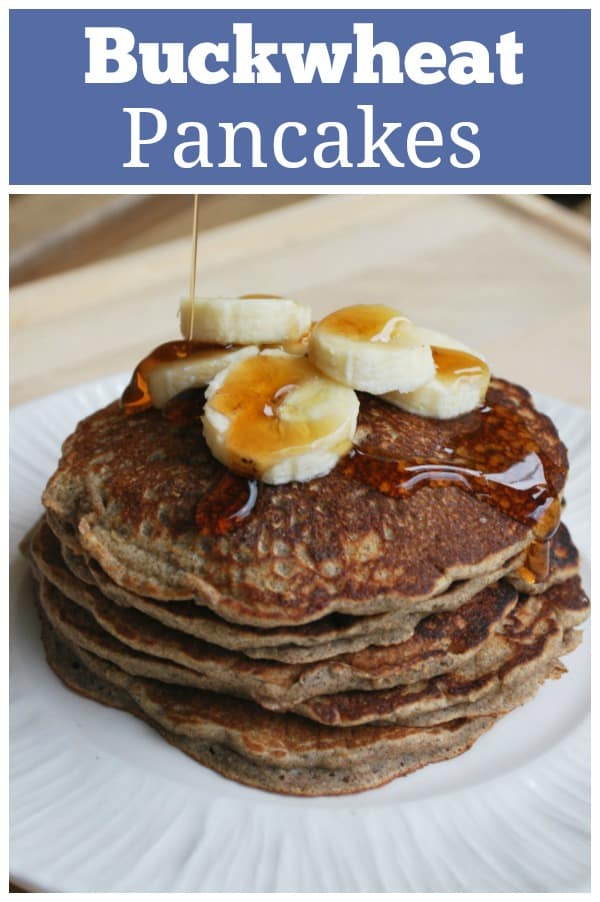Buckwheat Pancakes - healthy and delicious pancakes made with buckwheat flour and whole wheat flour. Your kids won't even know they are healthy!