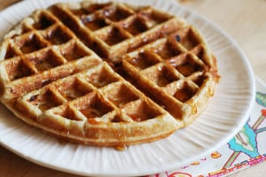 Banana Yeasted Waffles