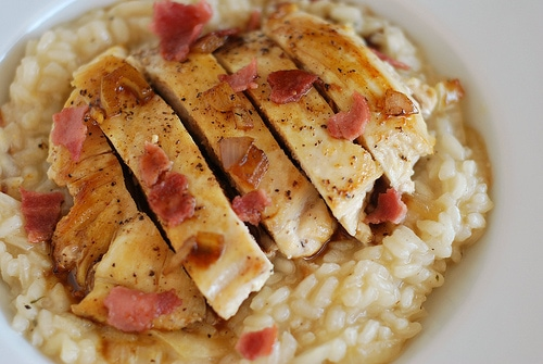 Chicken With Cider & Bacon Sauce Recipe — Dishmaps
