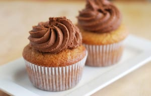 Peanut Butter Cupcakes with Chocolate Buttercream