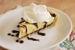 Peanut Butter-Banana Cream Pie with Hot Fudge Sauce