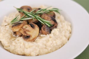 Smoked Gouda Risotto with Mushrooms