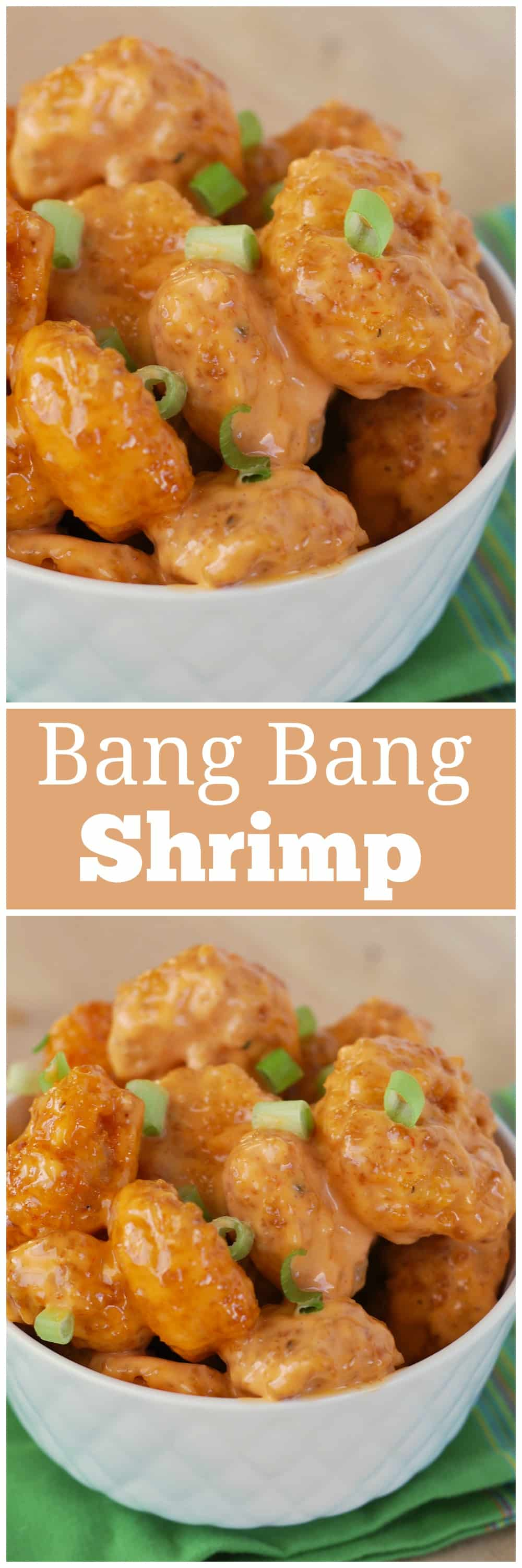Bang Bang Shrimp - Bonefish copycat recipe! Crispy shrimp is a creamy, spicy sauce! This is the BEST shrimp ever.