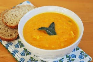 Butternut Squash and Crab Bisque