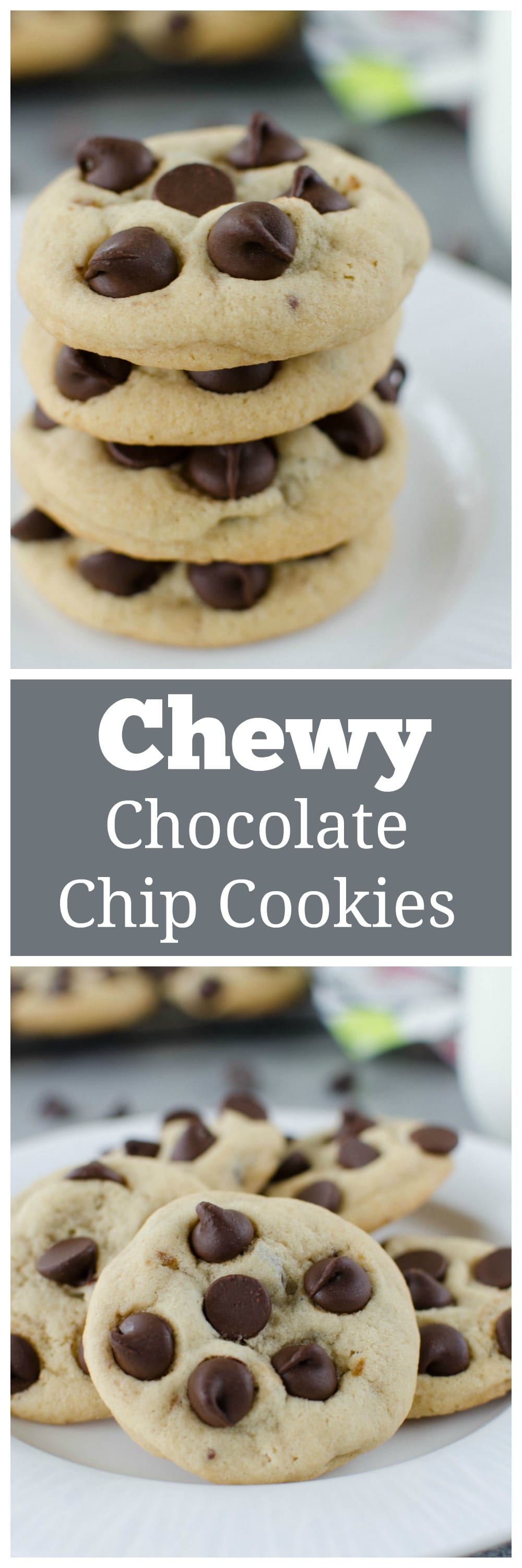 Chewy Chocolate Chip Cookies - the BEST recipe to get soft and chewy chocolate chip cookies! You will never make another chocolate chip cookie recipe.
