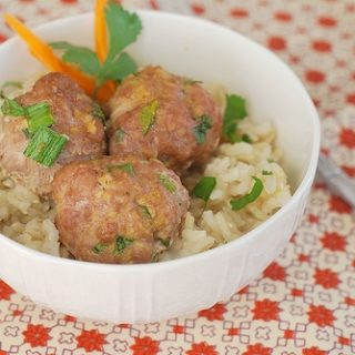 Asian Turkey Meatballs with Sesame Lime Dipping Sauce