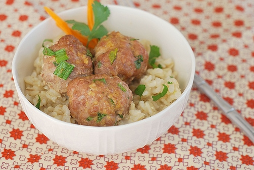 Asian Turkey Meatballs with Sesame Lime Dipping Sauce ...
