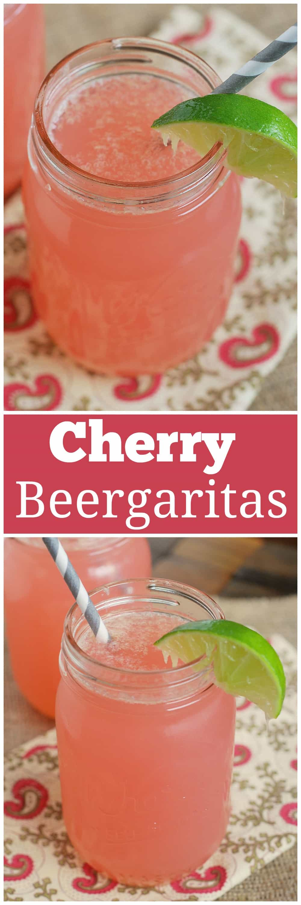 Cherry Beergaritas - tequila, Corona, cherry 7Up, and limeade! This will be your official summer drink!