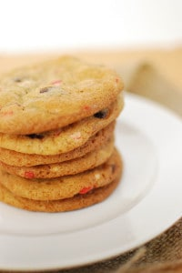 Peppermint Crunch-Chocolate Chip Cookies