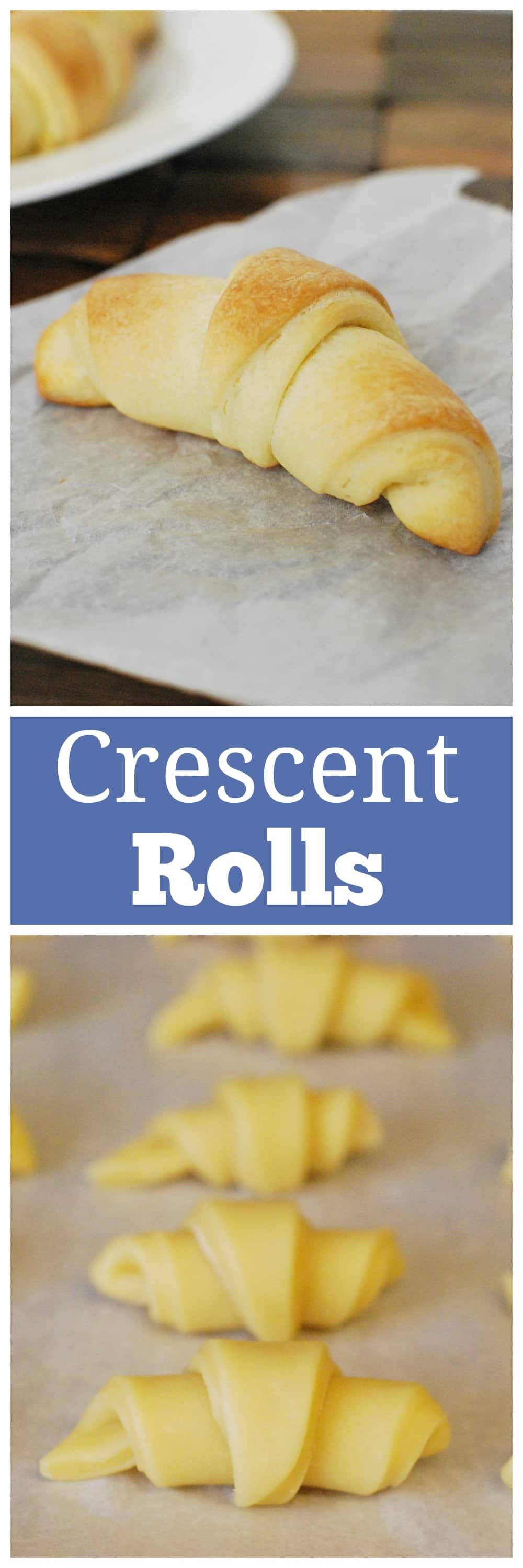 Crescent Rolls - easy buttery homemade crescent rolls. Skip the canned rolls and make your own!