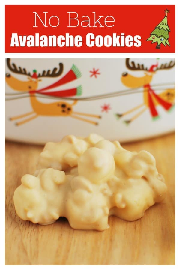 No Bake Avalanche Cookies - Santa's favorite cookie! Peanuts, Rice Krispies, and marshmallows coated in white chocolate and peanut butter!