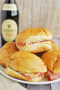 Corned Beef and Irish Cheddar Sliders