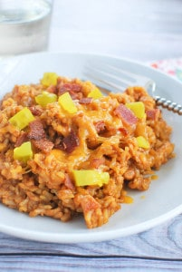 Bacon Cheeseburger Rice