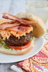 Bacon and Pimento Cheese Burgers