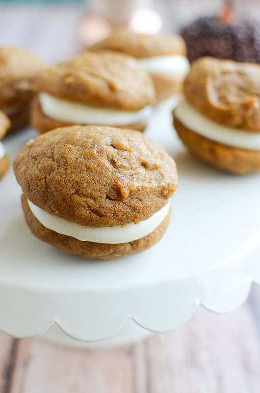 Pumpkin Whoopie Pies with Marshmallow Cream Cheese Filling (and a ...