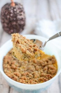 Carrot Casserole with Crumb Topping