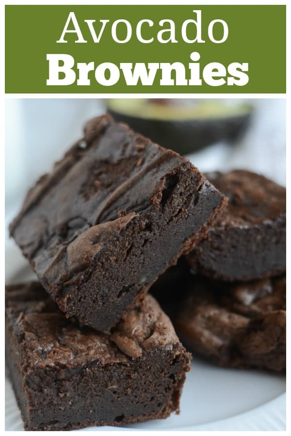 Avocado Brownies - no butter, no oil! These are so rich and delicious and no one will guess that the secret is avocado!