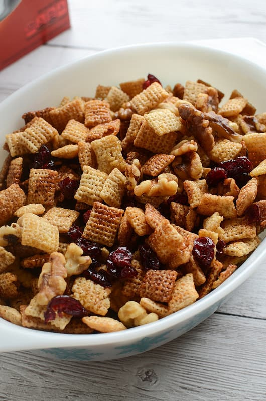 Cranberry Nut Chex Mix Fake Ginger