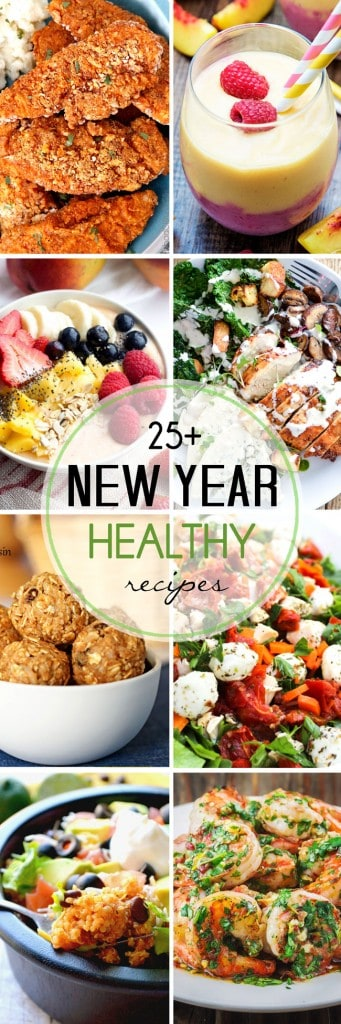 25+ Healthy New Year Recipes - get the year started right with this list of delicious and healthy recipes!