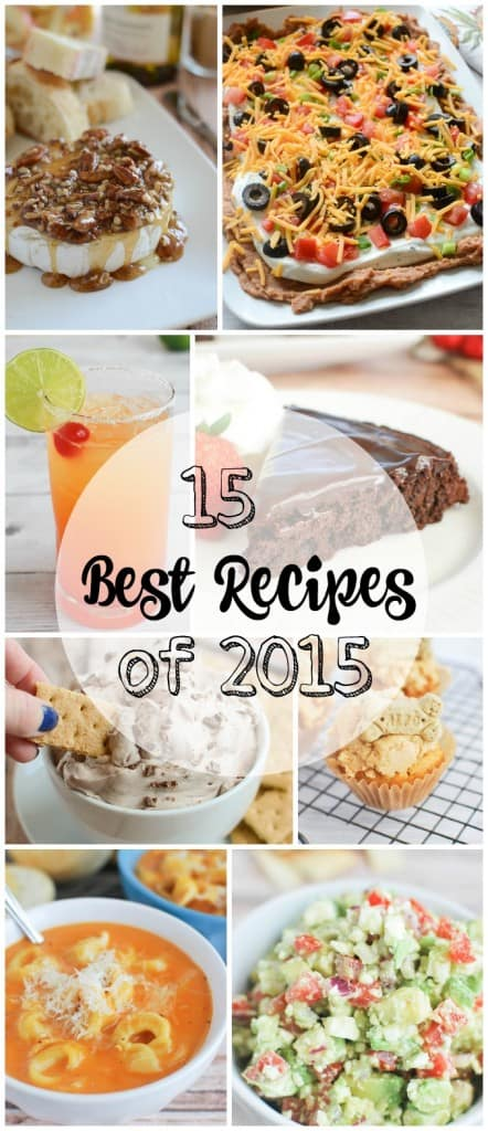 15 Best Recipes of 2015 from FakeGinger.com- snacks, cocktails, easy meals, and even dog treats!