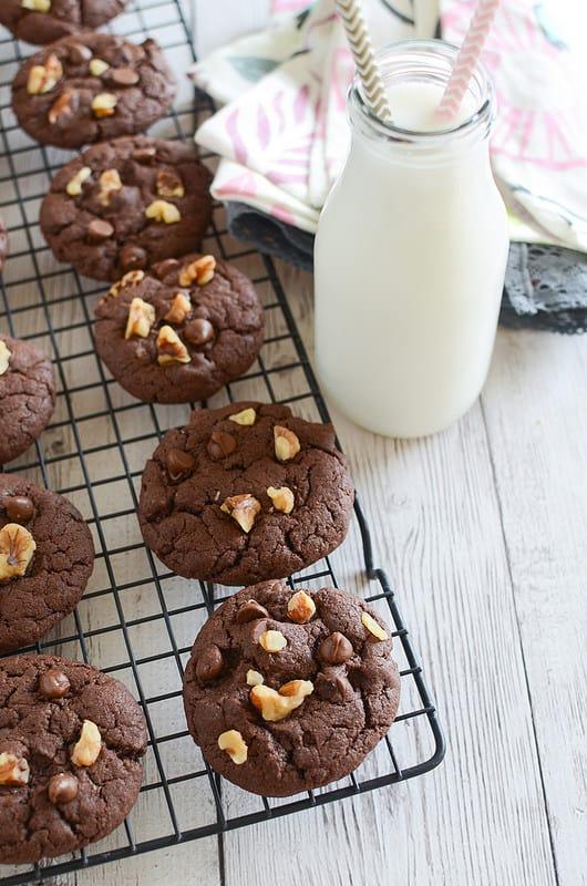 Cake Mix Fudge Cookies