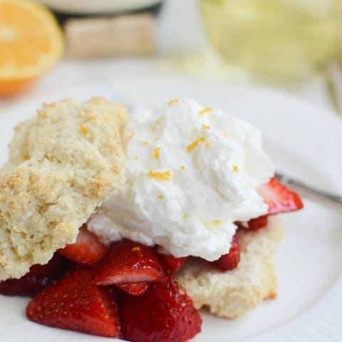 Meyer Lemon Strawberry Shortcakes