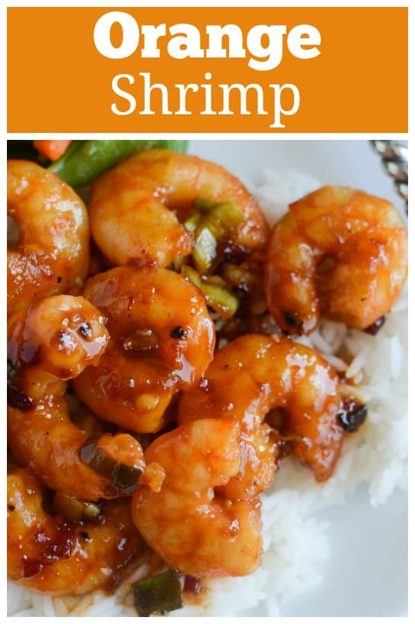 Spicy Orange Shrimp - light and healthy dinner recipe! Shrimp in a spicy Asian-inspired sauce. Ready in about 20 minutes so it's a perfect weeknight meal!