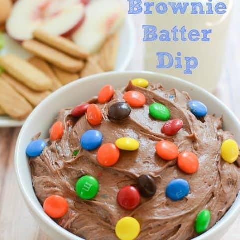 M&Ms Brownie Batter Dip