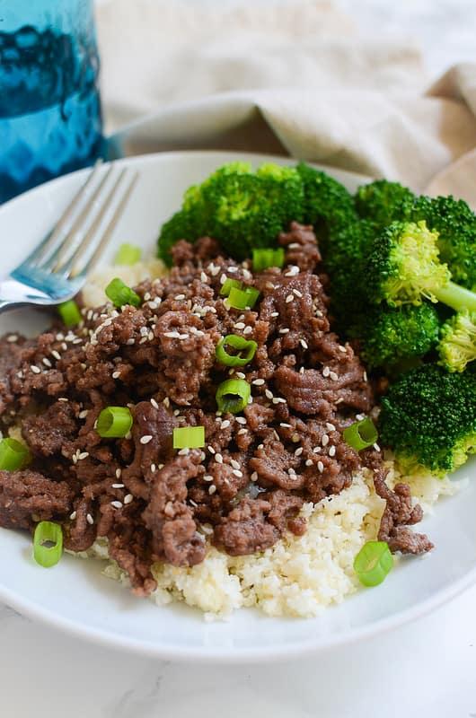 Paleo Korean Beef Bowls