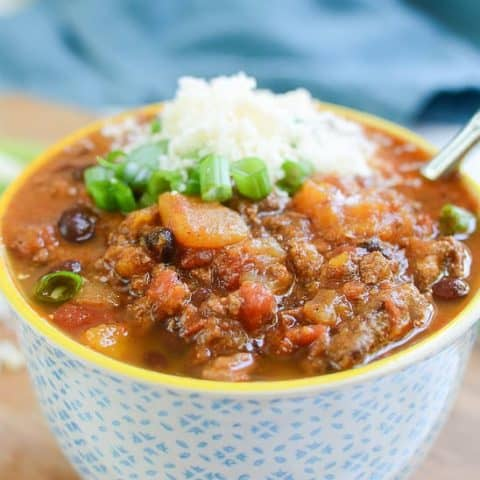 Slow Cooker Butternut Squash and Turkey Chili