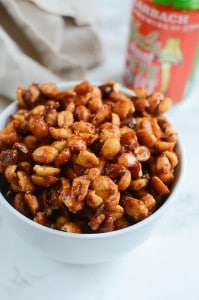 Slow Cooker Sweet and Spicy Peanuts