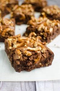 Peanut Butter Pretzel Brownies