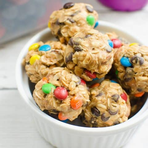 No Bake Trail Mix Energy Bites