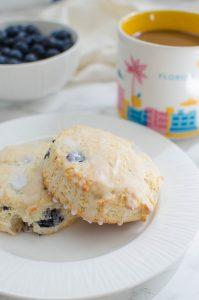Glazed Blueberry Biscuits #SummerDessertWeek