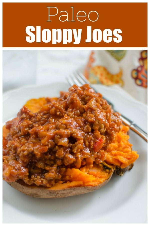 Paleo Sloppy Joes - a paleo take on the classic, using sweet potatoes! Easy and delicious - even the non-paleo people in your ilfe will love it!