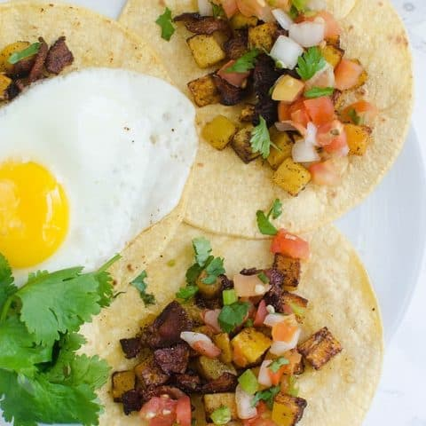 Bacon and Butternut Squash Breakfast Tacos