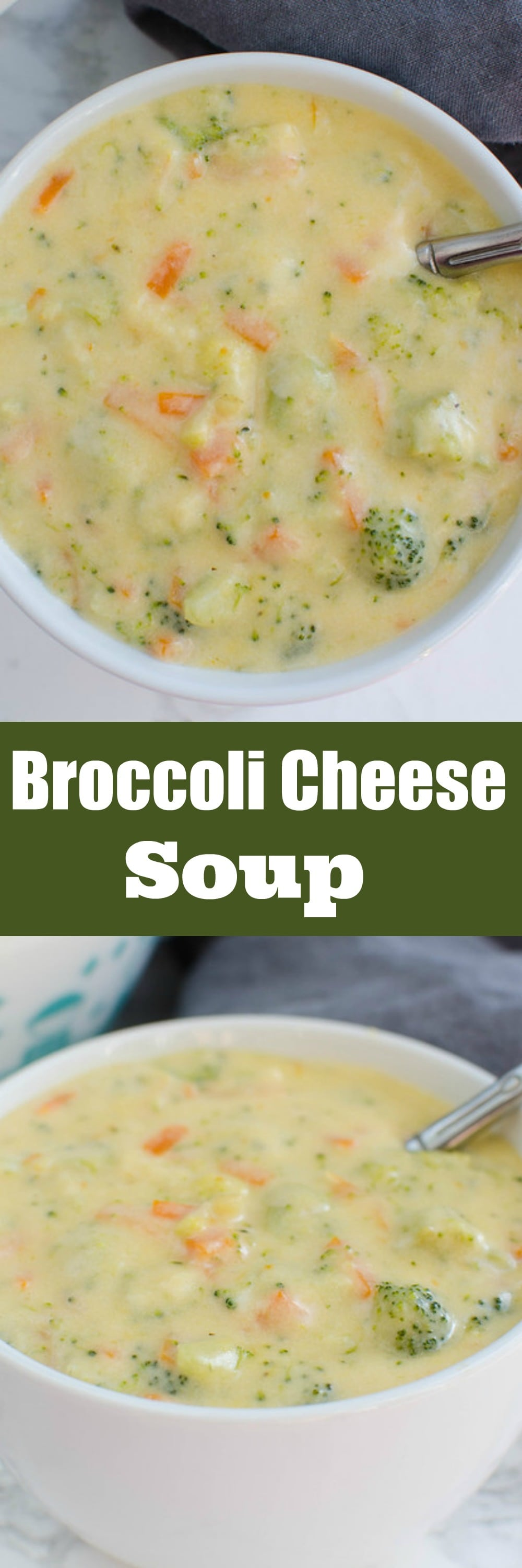 Broccoli Cheddar Soup - easy kid-friendly soup! A creamy soup with broccoli, carrots, and cheddar cheese!