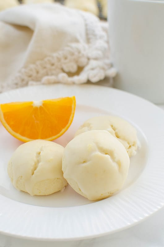 Gluten Free Iced Orange Cookies