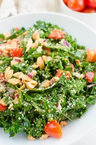 Paleo Pesto Kale Salad (The Edgy Veg Cookbook Review)