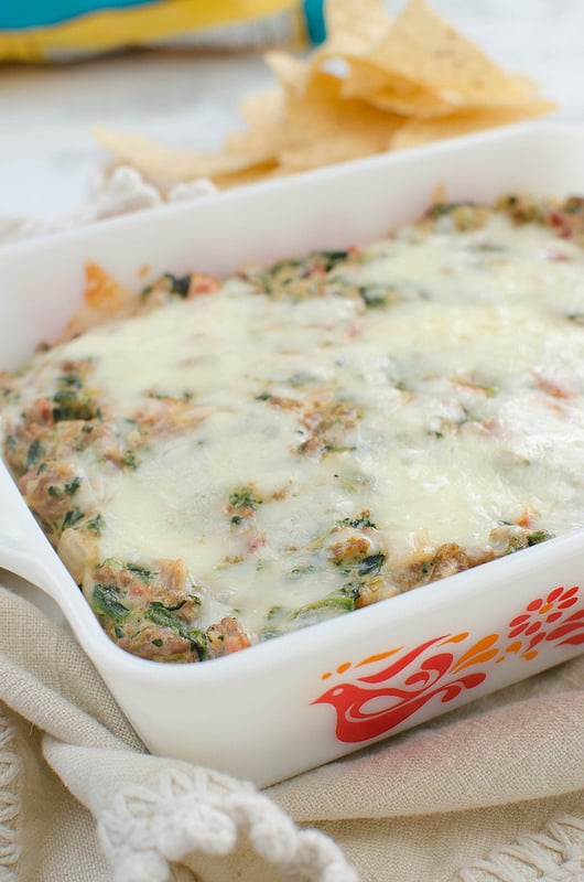 Cheesy Sausage and Spinach Dip