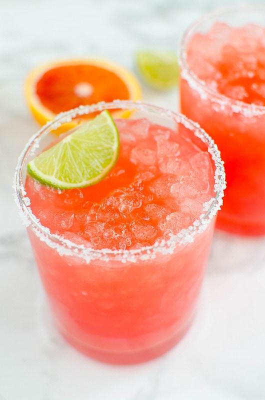 Skinny Blood Orange Margaritas