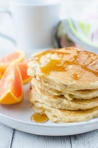 Pecan Oat Pancakes