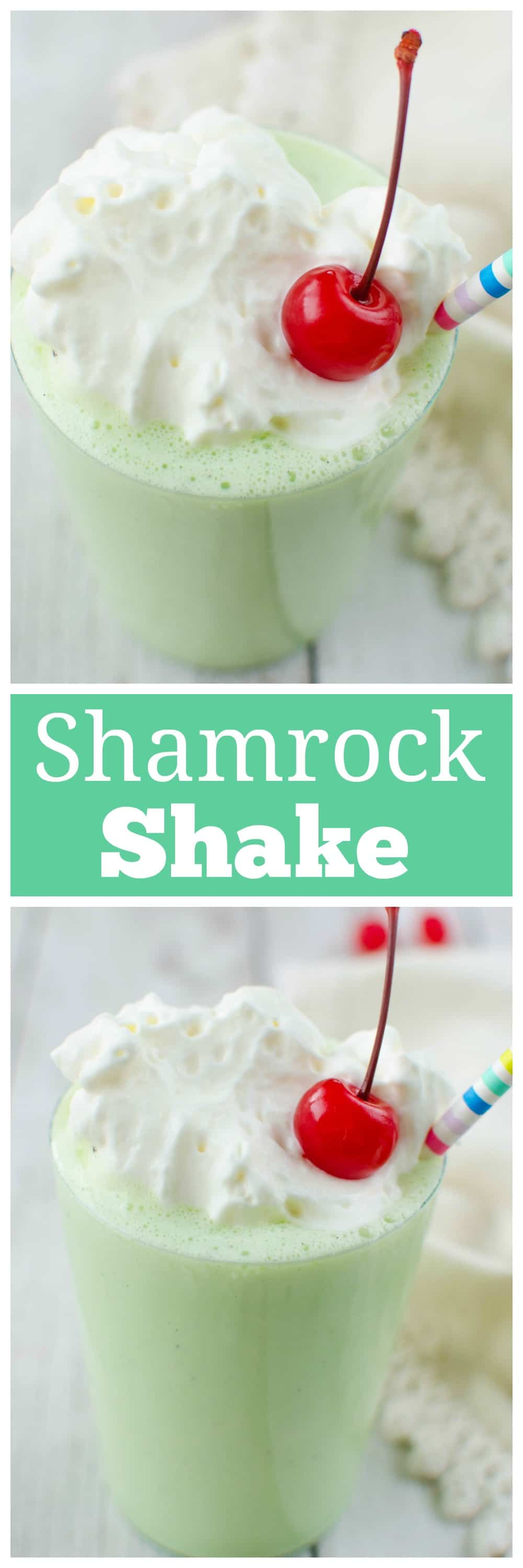 This McDonald's copycat recipe for the Shamrock Shake is perfect for St. Patrick's Day or any day you need a sweet, minty treat! Only 4 ingredients!