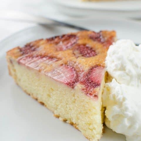 Strawberry Upside Down Ricotta Cake