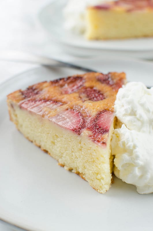 Strawberry Upside Down Ricotta Cake
