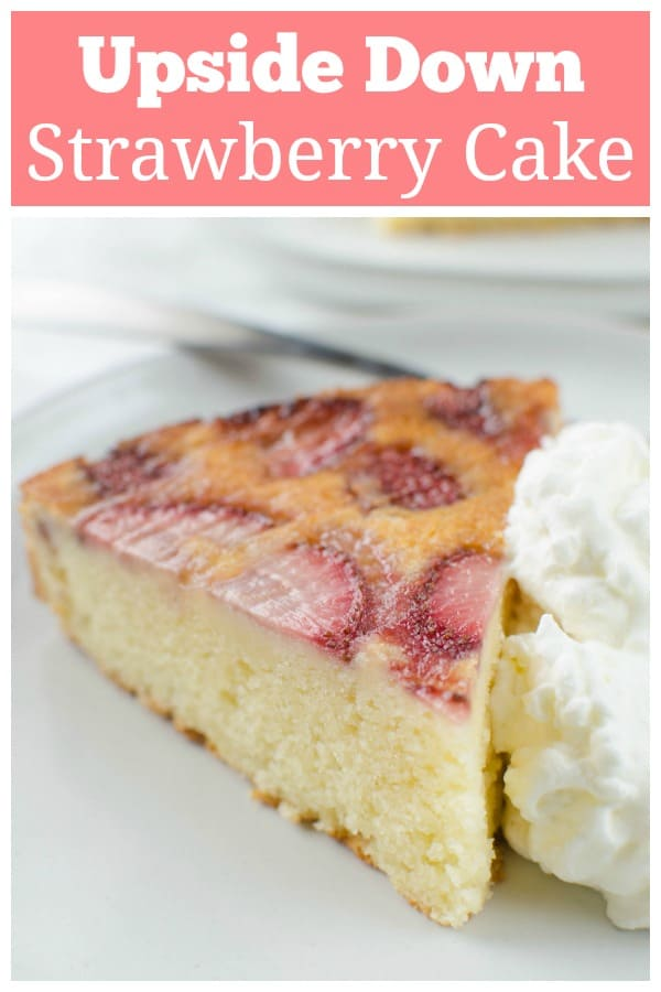 Strawberry Upside Down Ricotta Cake - delicious moist ricotta cake with juicy strawberries on top! The perfect spring and summer dessert!