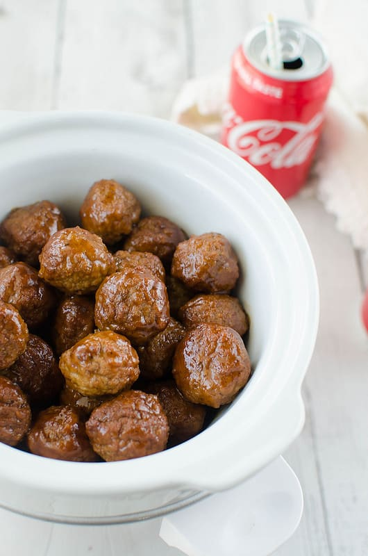 Slow Cooker Coca-Cola BBQ Meatballs