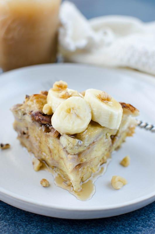 Pressure Cooker Banana Walnut French Toast