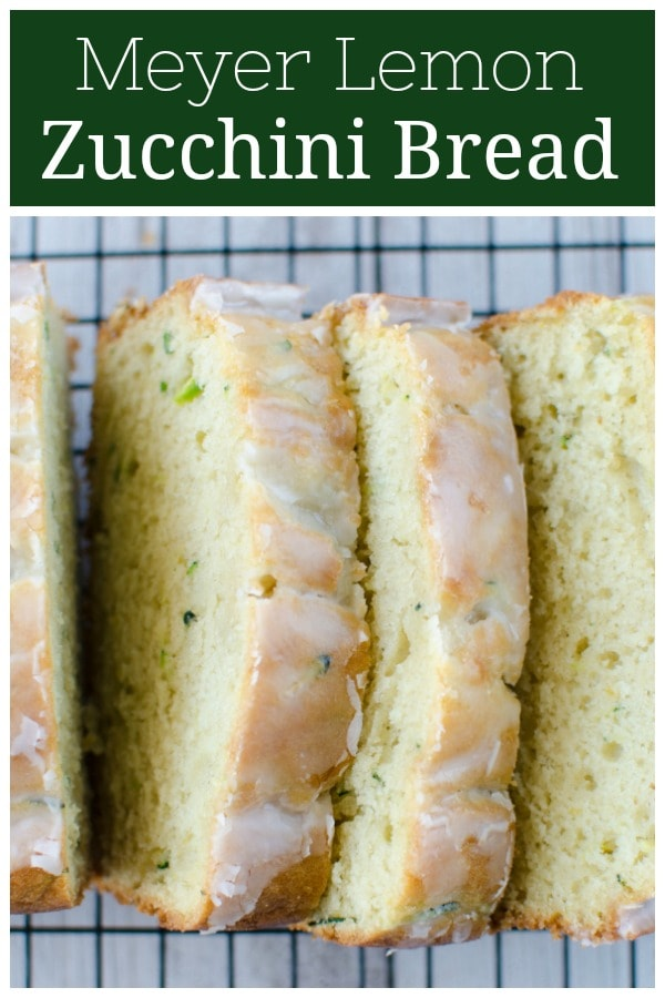 Meyer Lemon Zucchini Bread - moist and delicious quick bread with a sweet and tart glaze. The perfect way to use the seasonal fruit!